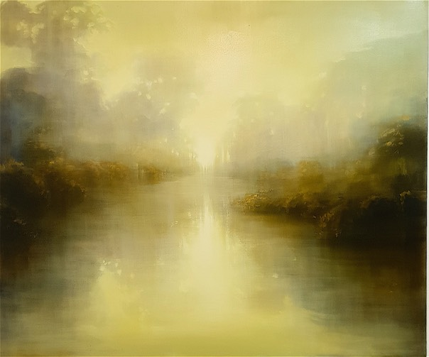 100 x 122 cm  Golden Water's Reflection
